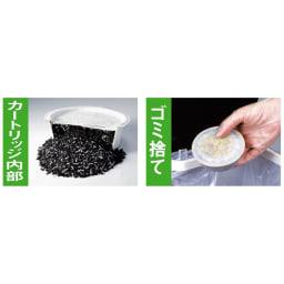 早くこせるようになった!活性炭カートリッジ(活性炭フィルター)7個組 ◎活性炭カートリッジ 活性炭に油の酸化を防止する「脱酸ろ助剤」をプラス。10~15回繰り返し使え、その後は可燃ゴミとして処理できます。