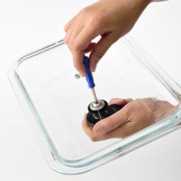 BRUNO/ブルーノ コンパクトホットプレート用ガラスフタ 取っ手は取り外して通常のに付け替えが可能です