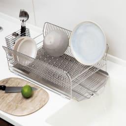 ハナウタ 皿を縦にも横にも置ける水切り (ア)よこ置き