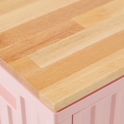 コンテナストレージボックス 専用天板&キャスターセット 天板部のアップ。上に小物類を置くときにも便利。