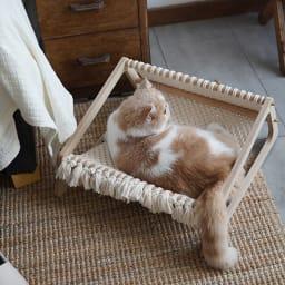 ペット用ハンモックベッド ネットタイプ 猫ちゃんももちろんお使いいただけます。