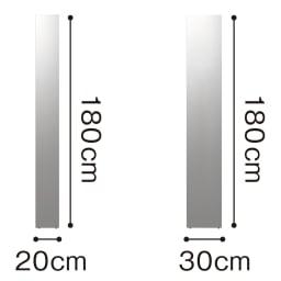 割れない軽量フィルムミラー 細枠 30×180cm