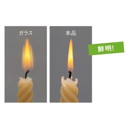 割れない軽量フィルムミラー[額装風 樹脂フレーム] 鮮明に映る!ガラス鏡(左)と比べ、割れないミラー(右)のほうがくっきり映ります。