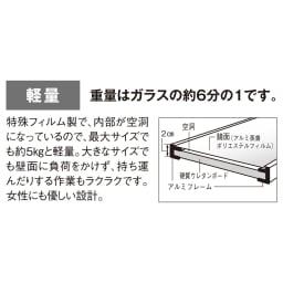 【サイズオーダー】割れない軽量フィルムミラー幅42~50cm[細枠フレーム]