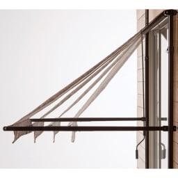 サマーオーニング つっぱり式 幅208cm アームの長さは4段階に調節可能。