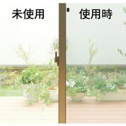 遮熱クールアップ 2枚組 部屋からの視界は損なうことなく、お庭の景観を楽しめます。