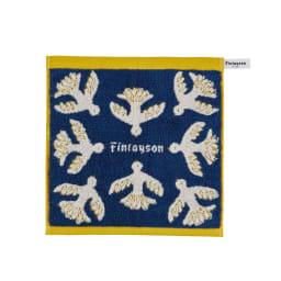 【Finlayson】フィンレイソン ウォッシュタオル同色2枚組 ムート柄  (ウ)ネイビー