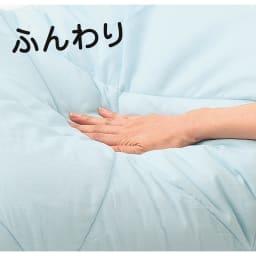 テンセルTM &ガーゼ寝具シリーズ ふわふわコンフォーター 柔らかいテンセル(TM)わたと、綿100%のガーゼ生地との組み合わせが絶妙。一度触るととりこになってしまう、ふっくらふわふわの感触です。