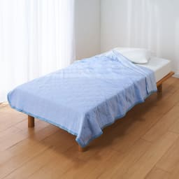 ひんやり除湿寝具 デオアイスネオシリーズ さらさらケット (ア)ブルー