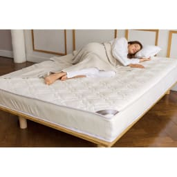 上質な眠りへと誘うブレスエアー(R)リュクス マットレス ※この製品の中材には、3次元スプリング構造体ブレスエアー(R)を使用しています。
