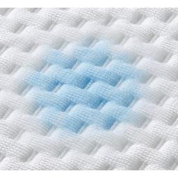 上質な眠りへと誘うブレスエアー(R)リュクス マットレス 表面は吸放湿性の高いテンセル(R)を使ったなめらかニット。