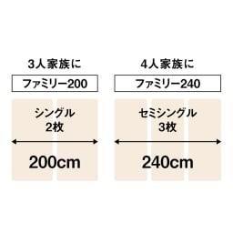 気になる湿気対策に薄型・軽量桐天然木すのこベッド 3つ折りタイプ 組み合わせ次第でファミリータイプにも対応。2枚以上並べて使用すれば、ファミリーサイズとしても使用可能。