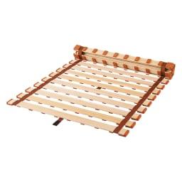 気になる湿気対策に薄型・軽量桐天然木すのこベッド ロールタイプ ※ワンタッチストッパーとコロローラーは付きません。