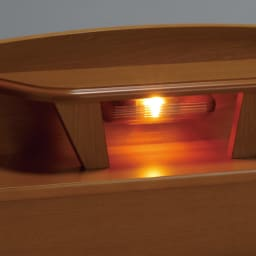 フランスベッド 棚照明付きベッド 羊毛綿入りマルチラススプリングマットレス付き ほのかな明かりのライト付き。