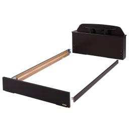 フランスベッド 棚照明付きベッド 羊毛綿入りマルチラススプリングマットレス付き 【組立方法1】引き出しの開閉向きを確認し、その位置にパーツを置いてください。