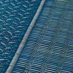 紋織りい草上敷き裏付き・細べり〈ランクス〉