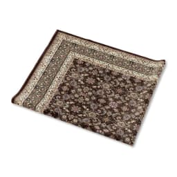 洗える抗菌防臭加工 モケット織ラグ「ポーロ」 折りたたんで収納できます。