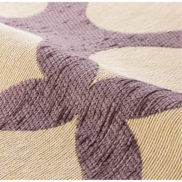 イタリア製マルチクロス「ミア」 クッションカバー約45×45cm用(カバーのみ・同色2枚組) Texture「ミア」…毛羽のあるモール状のシェニール糸と綿混の糸で織り上げた、ふっくらとしたジャカード織り素材。
