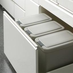 サイズが豊富な高機能シリーズ 板扉タイプ 食器棚深引き出し 幅60奥行50高さ187cm/パモウナ DZ-601K 深引き出しタイプには、WEB限定別売りダストボックスが納められます。
