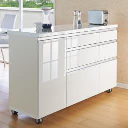 移動ラクラク 間仕切りハイグロストップカウンター 幅90cm (ア)ホワイト ※写真は幅140cmタイプです。