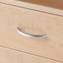 高さサイズオーダーカウンター下収納庫 引き出し 奥行21.5cmタイプ 幅45cm・高さ71~100cm(1cm単位オーダー) 取っ手はつかみやすい形状を選び、キッチンでのストレスを軽減。