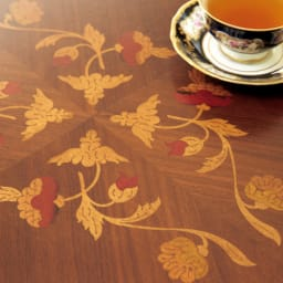 イタリア製象がんシリーズ リビングテーブル 幅100cm 美しい花模様が、格調高く芸術的に浮かび上がります。