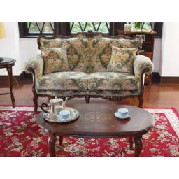 イタリア製象がんシリーズ リビングテーブル 幅100cm ソファー前に置いても使いやすい高さ設計です。