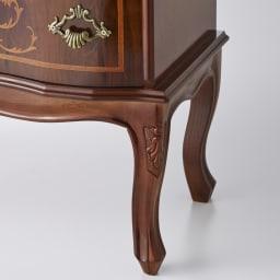 イタリア製 猫脚 象嵌シリーズ テレビ台 幅111cm  脚部は女性らしく華やかなねこ脚デザイン。