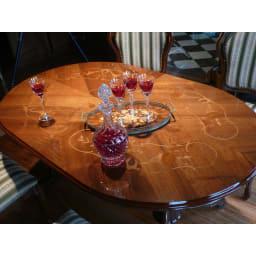 イタリア製 金華山織シリーズ ダイニング5点セット(ダイニングテーブル+ダイニングチェア1脚×4) まるでホテルのレストランのような、美しいテーブルです。