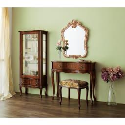 イタリア製金華山織シリーズ スツール シリーズ品とのコーディネートで、一層華やかなお部屋に。