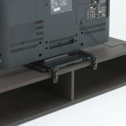 曲面加工のラウンドシェルフシリーズ テレビ台1段3連 幅165cm 高さ21cm脚なしタイプ 背面構造