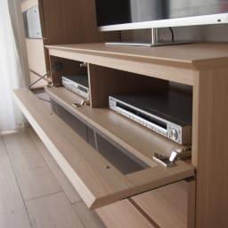パモウナGV-120ダイニングからシアターリビングシリーズ テレビ台 幅120cm デッキは2台収納できます。