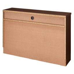 ベッドから見やすいテレビボード 幅118cm (ア)ダークブラウン背面 ※写真は高さ79cmタイプです。