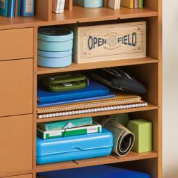 学校の準備がしやすいランドセルラック 中央の収納部の仕切り板は横にしても使えます!