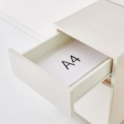 配線すっきり幅オーダーデスク プリンターワゴン 幅40cm A4サイズが収納でき、資料の分類収納に便利。