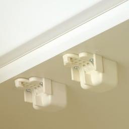 【パモウナ社製】毎日の使いやすさを考えた壁面収納システム 棚&引き出し収納庫 幅80cm すべての扉に耐震補助金具を装備 振動を感知し扉をロックし、収納物が飛び出す危険性を軽減します。