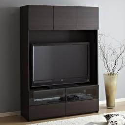 【パモウナ社製】毎日の使いやすさを考えたテレビ収納システム テレビ台 幅160cm[52~60インチ型液晶テレビ収納可能サイズ] (ウ)ウォルナット