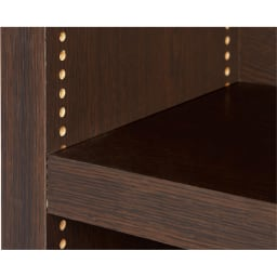 天井突っ張り式がっちりすっきり壁面本棚 奥行30cmタイプ 1cm単位オーダー 幅30~45cm・高さ207~259cm 棚板1cmピッチ 可動棚は1cmピッチで調節が可能。本の高さやお好みに合わせて細かく対応します。