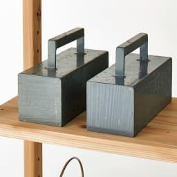 国産杉頑丈ディスプレイ本棚(ヴィンテージ風ラック) オープンタイプ・幅100cm高さ179cm 【頑丈棚板】棚板1枚当たりの耐荷重約50kgの頑丈な仕様です。