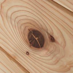 国産杉頑丈ディスプレイ本棚(ヴィンテージ風ラック) オープンタイプ・幅100cm高さ179cm 【自然の表情】天然杉のフシを活かして、ナチュラルな表情に仕上げました。