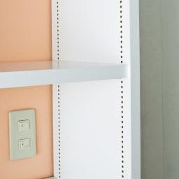 A4サイズがぴったり収まる高さサイズオーダー対応壁面収納ラック 奥行29.5cmタイプ 幅60本体高さ207~259cm(対応天井高さ208~260cm) 可動棚は収納物にあわせて1cmピッチで調節可能。