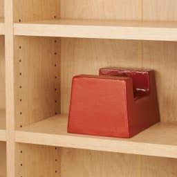 棚板の位置が選べる本棚(幅118cm本体高さ180cm) 棚板1枚当たり耐荷重約10kgの頑丈さ。(写真はイメージです)