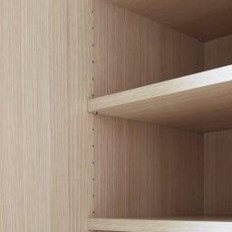鍵付き本棚ハイタイプ 幅80奥行35高さ180cm 可動棚板は3cm間隔で調整可能。棚板耐荷重15kg。小さく軽いモノから大きく重いモノまでなんでも収納。