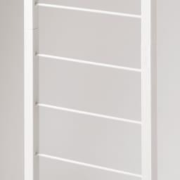 突っ張り式カスタムオープン ワードローブ ハンガー1段&棚3枚 幅91cm サイドバーは10cm間隔。小物掛けにも便利。