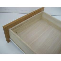 アルダー天然木ギャラリー収納シリーズ 幅120ボード 引き出しは丈夫な箱組仕様。