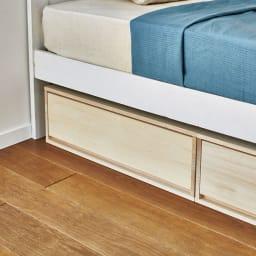 【日本製】総桐押入れ布団台収納 幅44cm ベッド下収納庫としてもお使いいただけます。 ※写真は幅75cmタイプです。