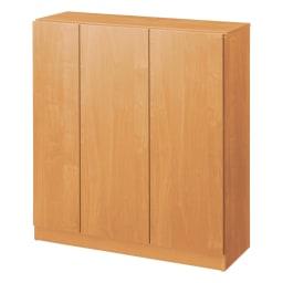 天然木調シューズボックス ロー 幅99高さ108cm (ア)ナチュラル