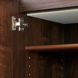 天然木調シューズボックス ハイ 幅73高さ210cm 上扉の天井部分には、吸湿&防臭機能のあるモイスを採用。