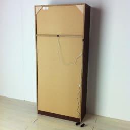 美しく飾れるシューズクローゼット 照明ライト付き下駄箱 幅80cm高さ180cm 背面。