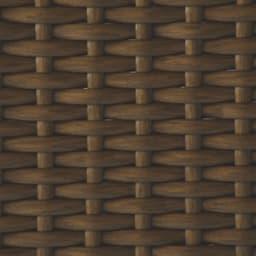 ラタン調の下駄箱下に収まるシューズワゴン 幅60cm 素材アップ